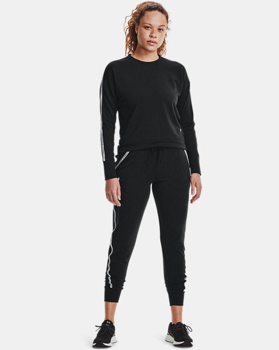 Women's UA Rival Terry Taped Pants, Black, pdpMainDesktop image number 0
