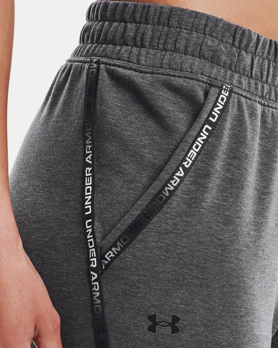 Women's UA Rival Terry Taped Pants, Gray, pdpMainDesktop image number 3