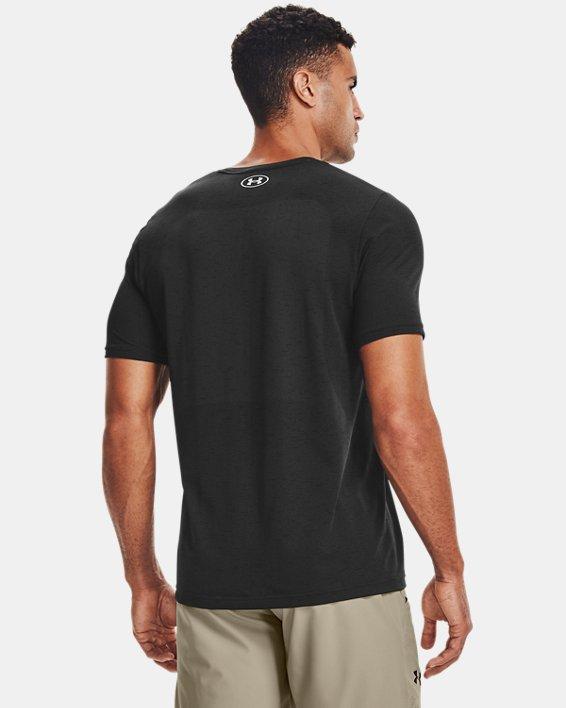 Men's UA Seamless Short Sleeve, Black, pdpMainDesktop image number 2
