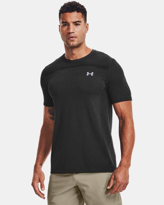 Men's UA Seamless Short Sleeve, Black, pdpMainDesktop image number 1