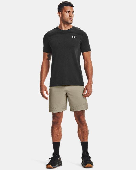 Men's UA Seamless Short Sleeve, Black, pdpMainDesktop image number 0