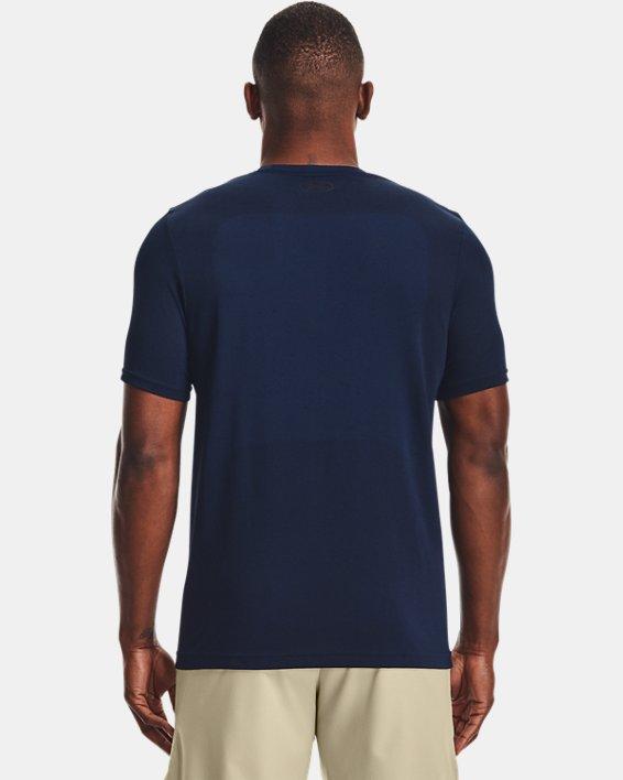 Men's UA Seamless Short Sleeve, Navy, pdpMainDesktop image number 2