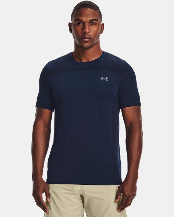 Men's UA Seamless Short Sleeve, Navy, pdpMainDesktop image number 1