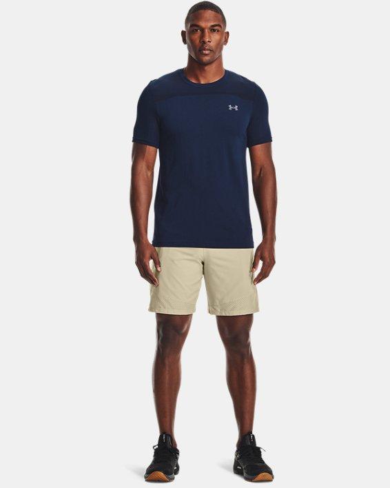 Men's UA Seamless Short Sleeve, Navy, pdpMainDesktop image number 0