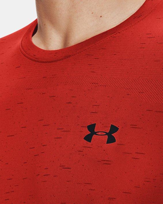 Men's UA Seamless Short Sleeve, Orange, pdpMainDesktop image number 5