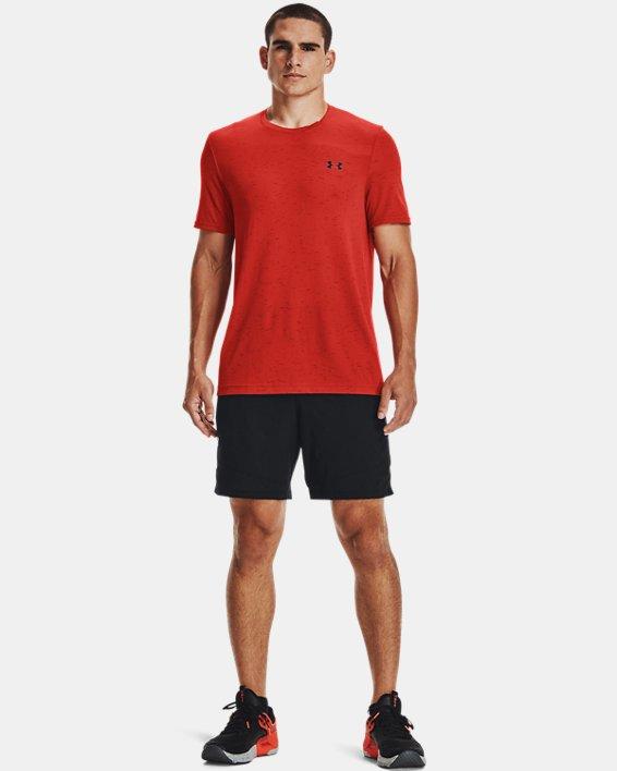 Men's UA Seamless Short Sleeve, Orange, pdpMainDesktop image number 0