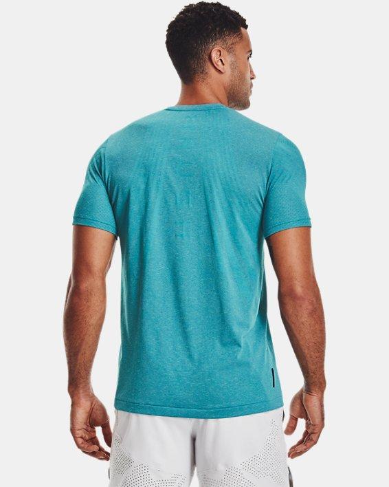 Camiseta de manga corta UA RUSH™ Seamless Strength para hombre, Blue, pdpMainDesktop image number 2
