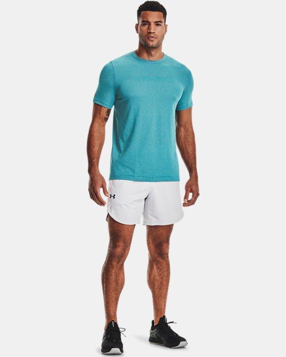 Camiseta de manga corta UA RUSH™ Seamless Strength para hombre, Blue, pdpMainDesktop image number 0