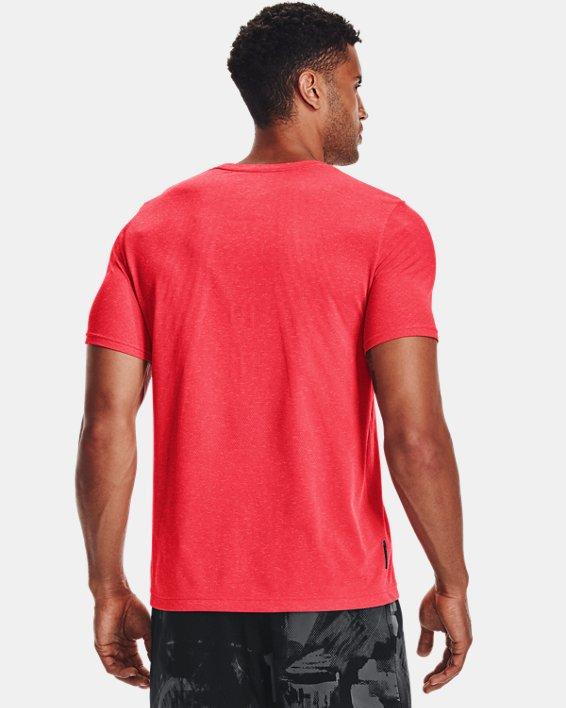 Men's UA RUSH™ Seamless Strength Short Sleeve, Red, pdpMainDesktop image number 2