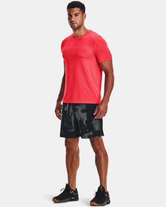 Men's UA RUSH™ Seamless Strength Short Sleeve, Red, pdpMainDesktop image number 0