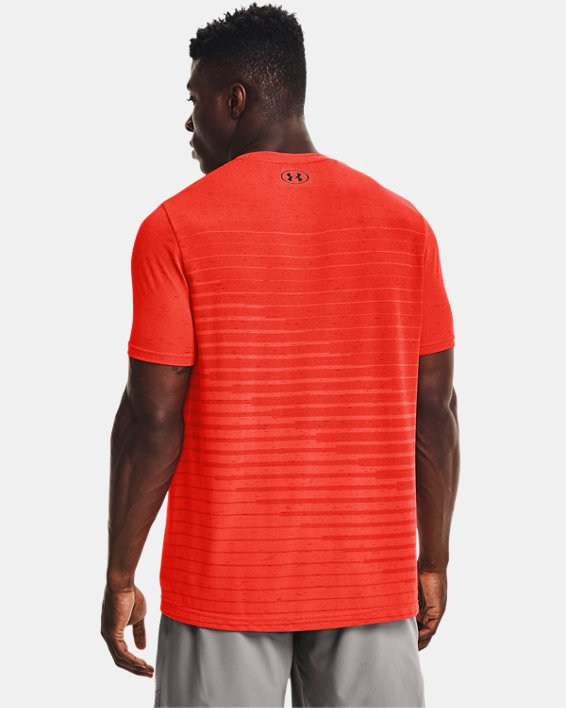 Men's UA Seamless Fade Short Sleeve, Orange, pdpMainDesktop image number 1