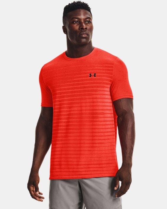 Men's UA Seamless Fade Short Sleeve, Orange, pdpMainDesktop image number 0