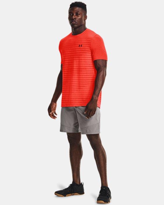 Men's UA Seamless Fade Short Sleeve, Orange, pdpMainDesktop image number 2