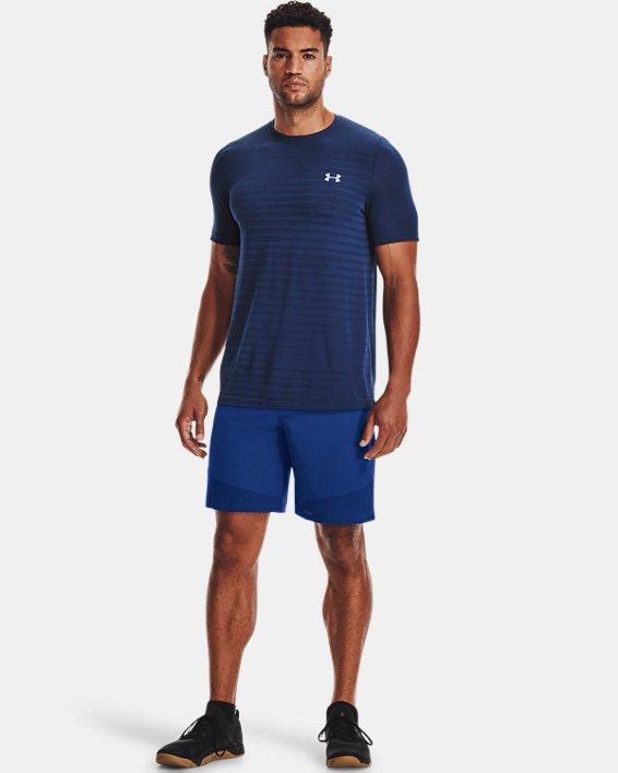 Men's UA Seamless Fade Short Sleeve, Blue, pdpMainDesktop image number 2