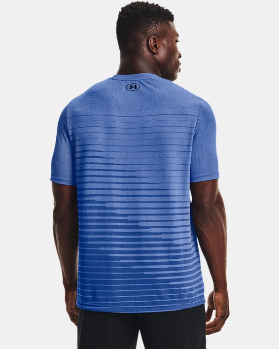 Men's UA Seamless Fade Short Sleeve, Blue, pdpMainDesktop image number 1