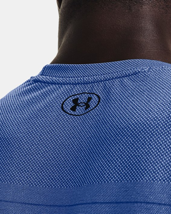 Men's UA Seamless Fade Short Sleeve, Blue, pdpMainDesktop image number 3