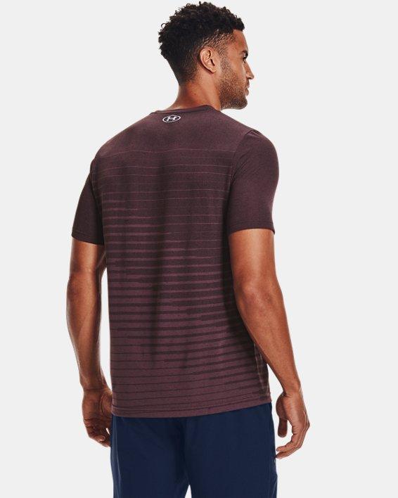 Men's UA Seamless Fade Short Sleeve, Purple, pdpMainDesktop image number 1