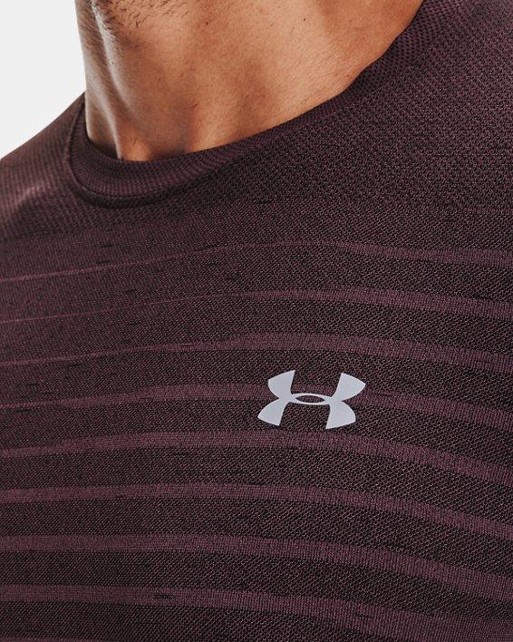 Men's UA Seamless Fade Short Sleeve, Purple, pdpMainDesktop image number 3