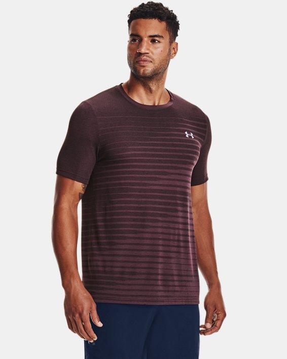 Men's UA Seamless Fade Short Sleeve, Purple, pdpMainDesktop image number 0
