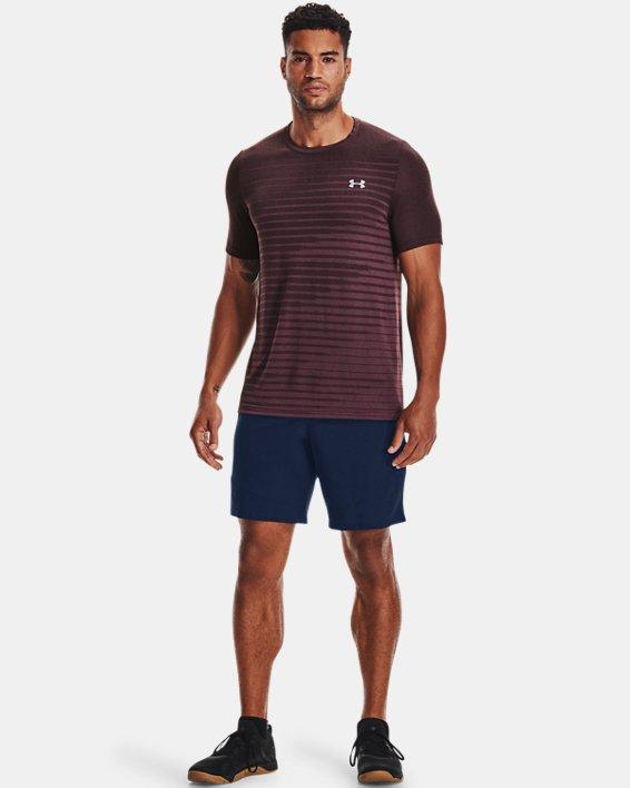 Men's UA Seamless Fade Short Sleeve, Purple, pdpMainDesktop image number 2