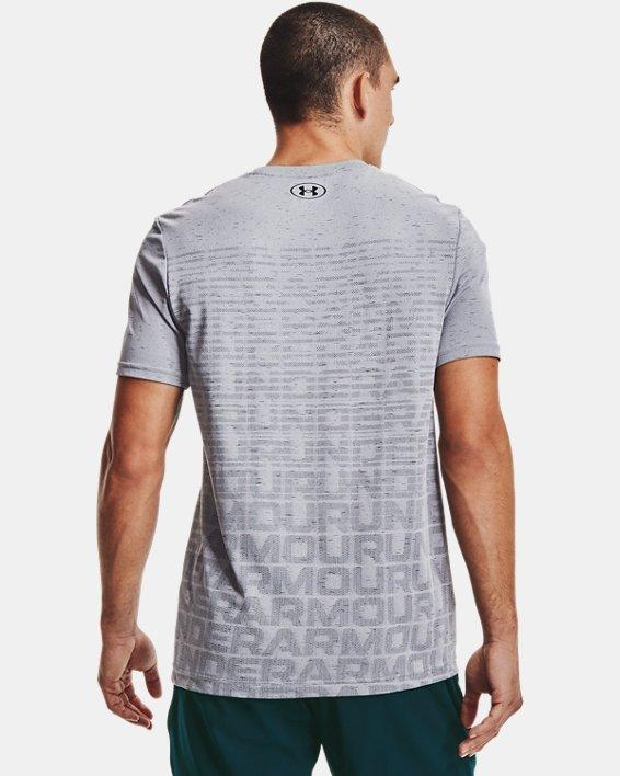 Men's UA Seamless Wordmark Short Sleeve, Gray, pdpMainDesktop image number 2
