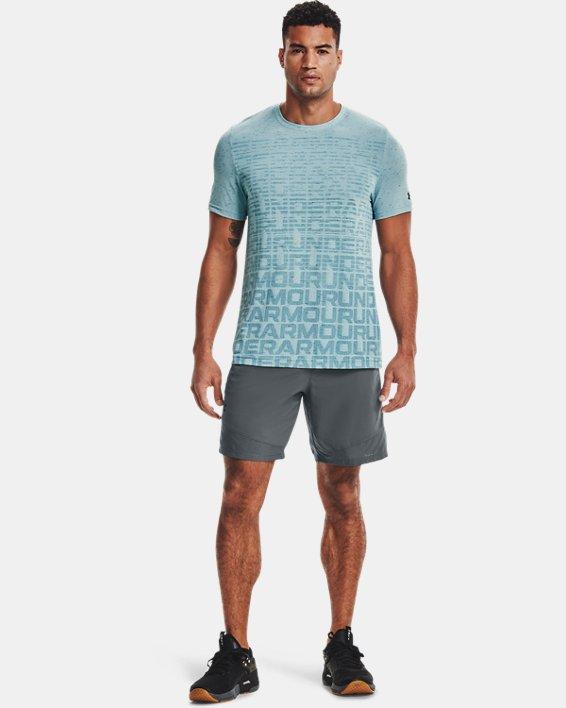 Men's UA Seamless Wordmark Short Sleeve, Blue, pdpMainDesktop image number 0