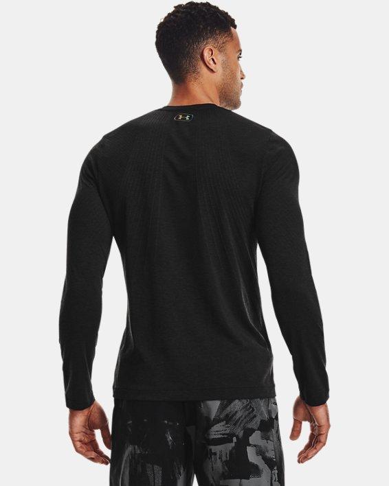 Men's UA RUSH™ Seamless Long Sleeve, Black, pdpMainDesktop image number 1