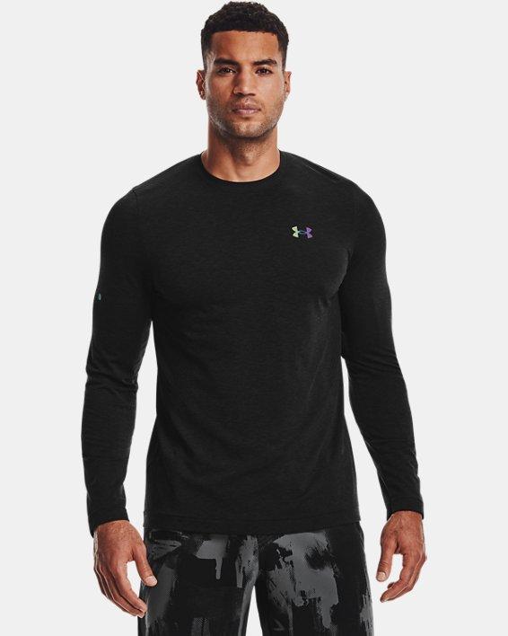 Men's UA RUSH™ Seamless Long Sleeve, Black, pdpMainDesktop image number 0