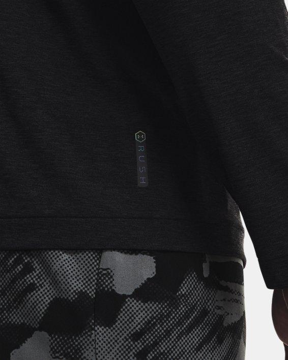 Men's UA RUSH™ Seamless Long Sleeve, Black, pdpMainDesktop image number 3