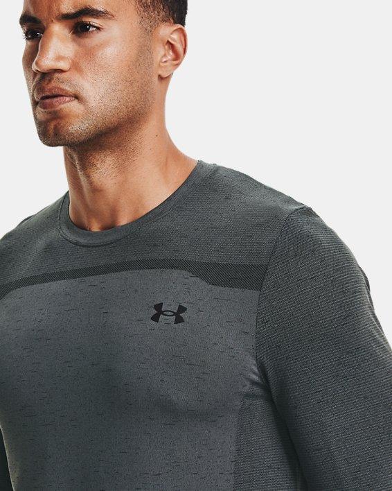 Men's UA Seamless Long Sleeve, Gray, pdpMainDesktop image number 3