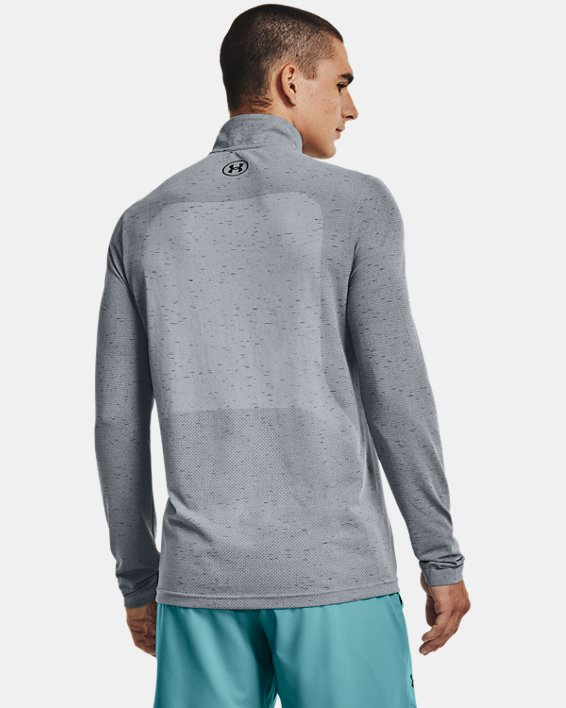 Men's UA Seamless ½ Zip, Gray, pdpMainDesktop image number 2