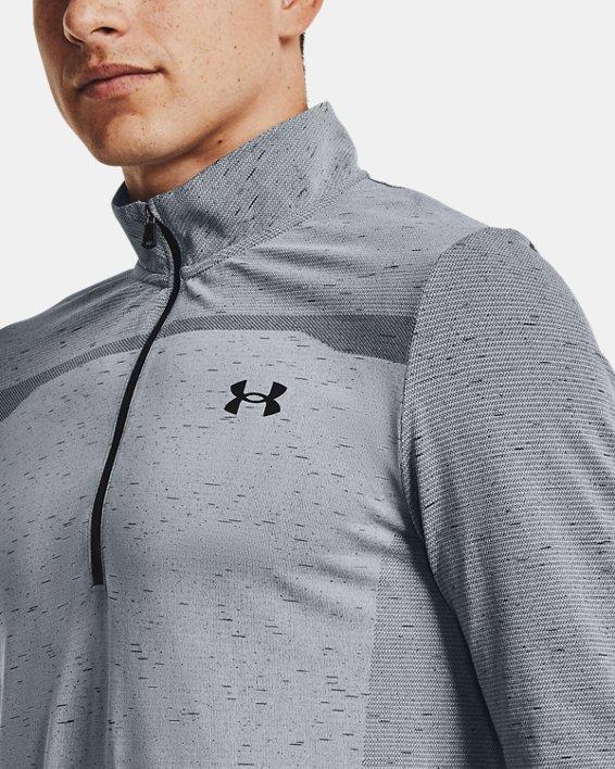 Men's UA Seamless ½ Zip, Gray, pdpMainDesktop image number 5