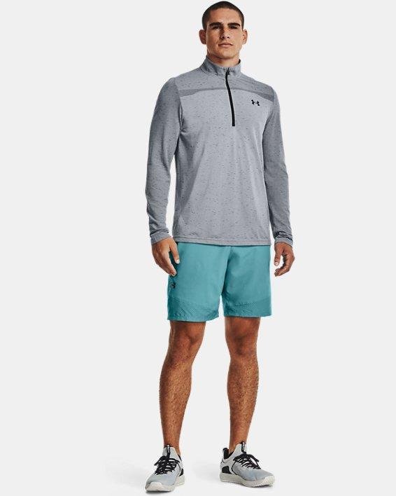 Men's UA Seamless ½ Zip, Gray, pdpMainDesktop image number 0