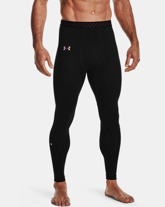 Men's UA RUSH™ Seamless Leggings, Black, pdpMainDesktop image number 1