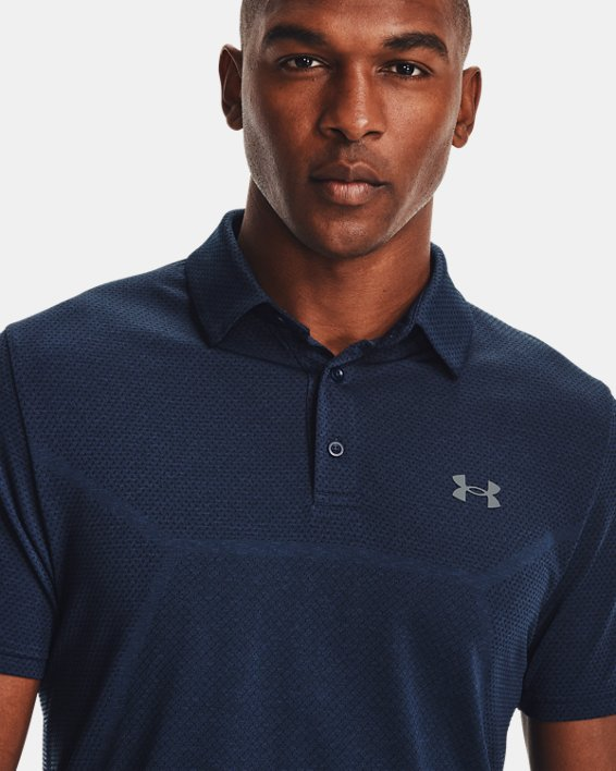 Polo UAVanish Seamless Mapped pour homme, Navy, pdpMainDesktop image number 5