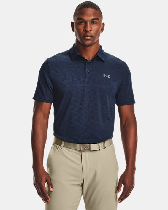 Polo UAVanish Seamless Mapped pour homme, Navy, pdpMainDesktop image number 1