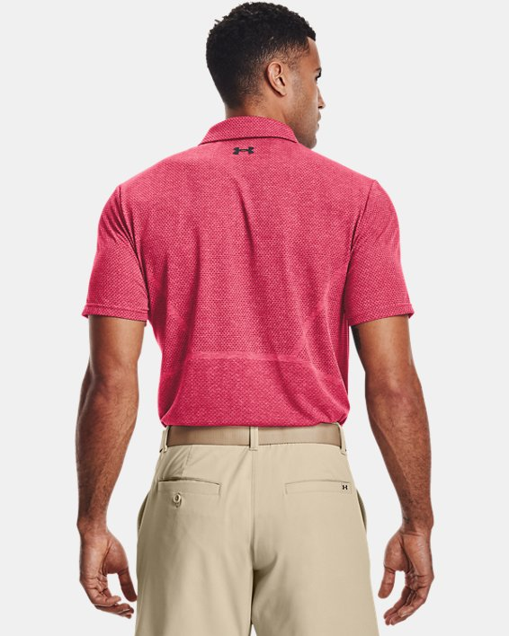 Men's UA Vanish Seamless Mapped Polo, Pink, pdpMainDesktop image number 2
