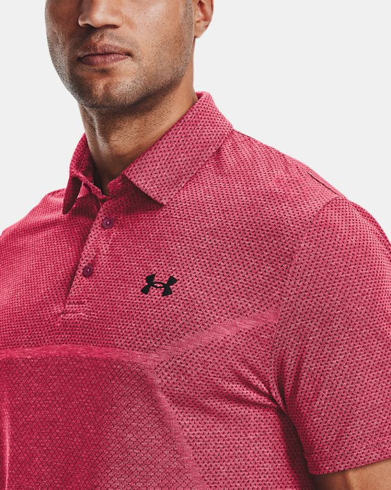 Men's UA Vanish Seamless Mapped Polo, Pink, pdpMainDesktop image number 5