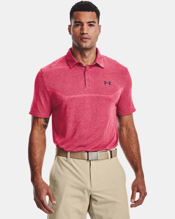 Men's UA Vanish Seamless Mapped Polo, Pink, pdpMainDesktop image number 1