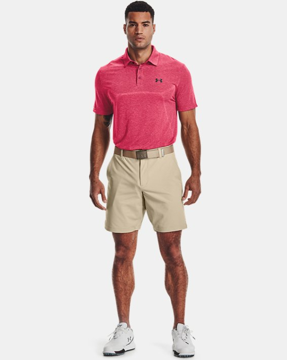 Men's UA Vanish Seamless Mapped Polo, Pink, pdpMainDesktop image number 0