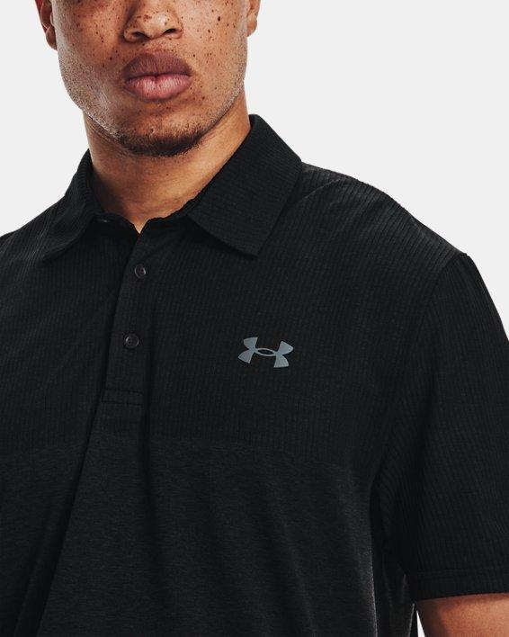 Polo UA Vanish Seamless Blocked da uomo, Black, pdpMainDesktop image number 5