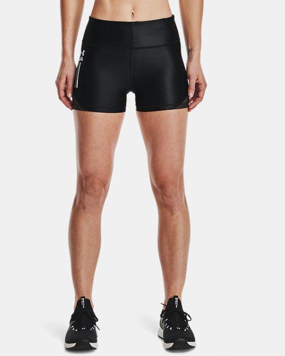 Women's UA HeatGear® Iso-Chill Shorty, Black, pdpMainDesktop image number 1