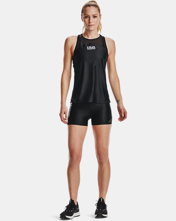 Women's UA HeatGear® Iso-Chill Shorty, Black, pdpMainDesktop image number 0