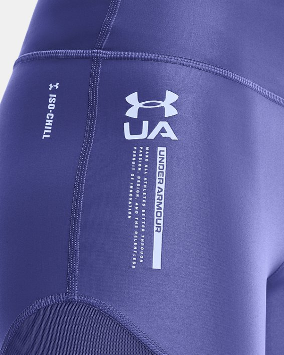 Shorty UAHeatGear® Iso-Chill pour femme, Purple, pdpMainDesktop image number 3
