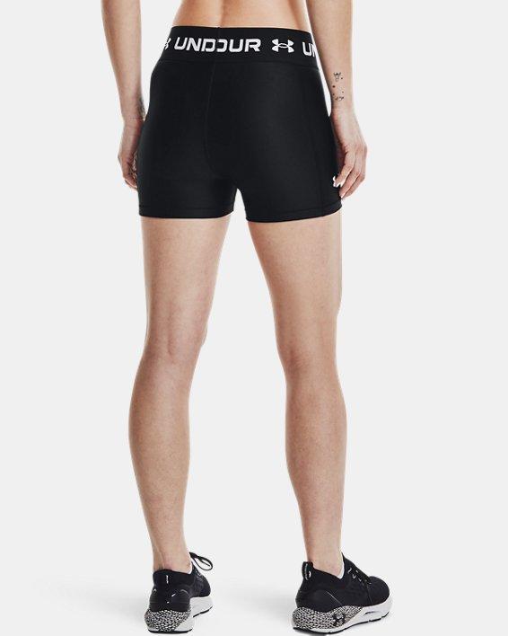 Damen HeatGear® Armour Wordmark Waistband Shorty, Black, pdpMainDesktop image number 1