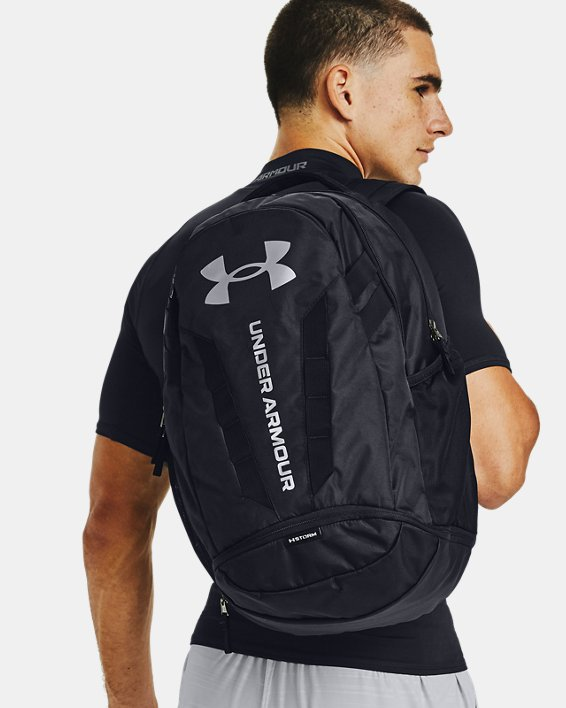 UA Hustle 5.0 Backpack, Black, pdpMainDesktop image number 5
