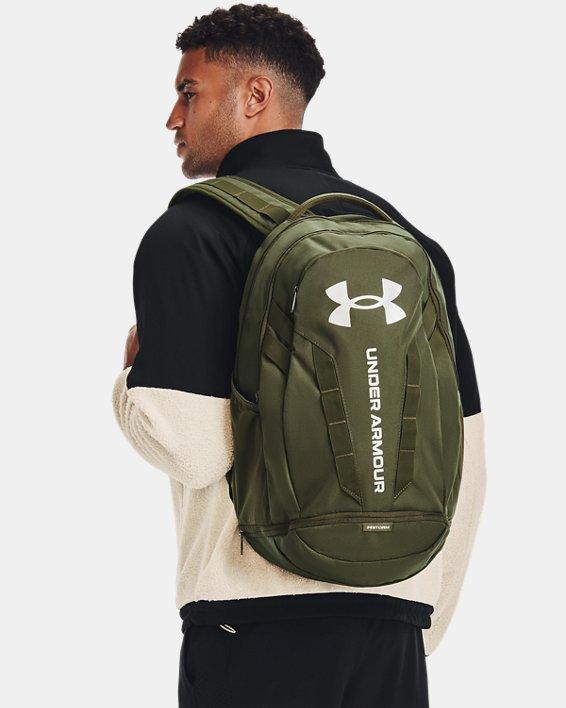 UA Hustle 5.0 Backpack, Green, pdpMainDesktop image number 0