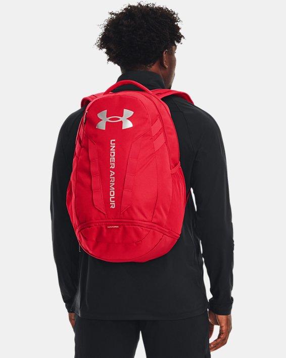 UA Hustle Backpack, Red, pdpMainDesktop image number 0