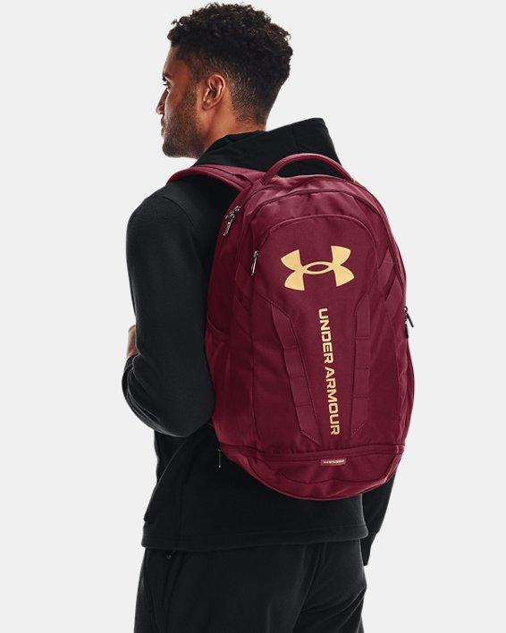 UA Hustle 5.0 Backpack, Red, pdpMainDesktop image number 5