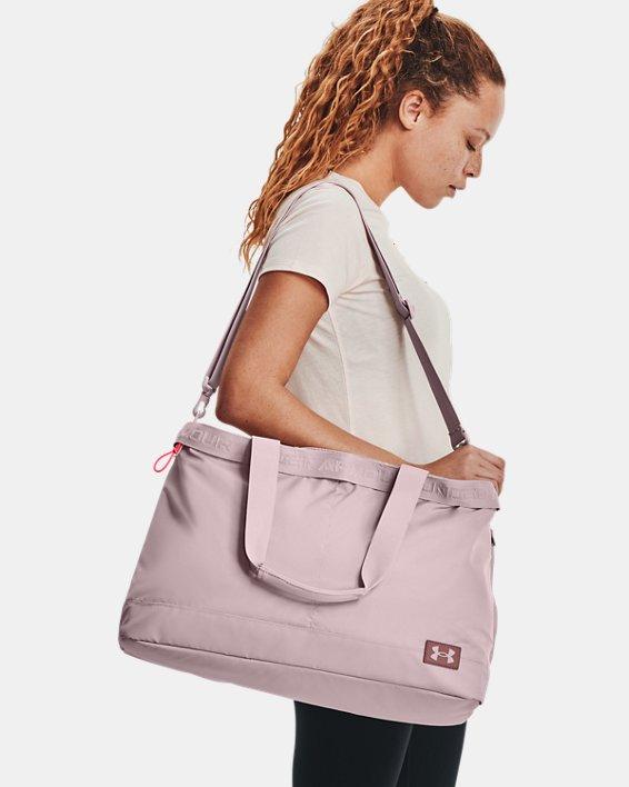 Women's UA Essentials Signature Tote Bag, Pink, pdpMainDesktop image number 0